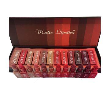 Huda Beauty Matte Lipstick Set Of 12 (P.R.C)
