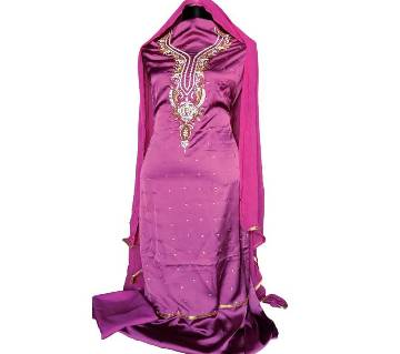 Unstitched Silk Dress-Product Code 105