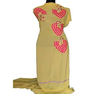 Unstitched Machine Embroidery Dress- Product Code 111