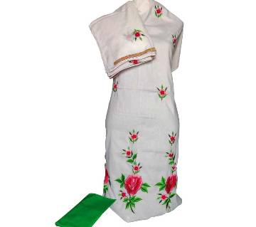 Unstitched Machine Embroidery Dress- Product Code 114