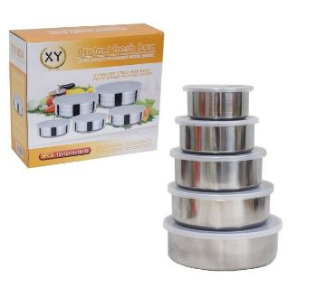 5 Pcs Multi-functional Stainless Steel Protect Fresh. Box