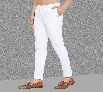 Regular fit pajama for mens white color