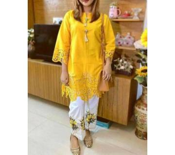 Pakistani laser cut cotton 2pc