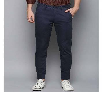 Navy Blue Regular Fit Gabardine Pant