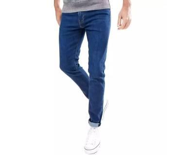 Royal blue jeans pants for mens