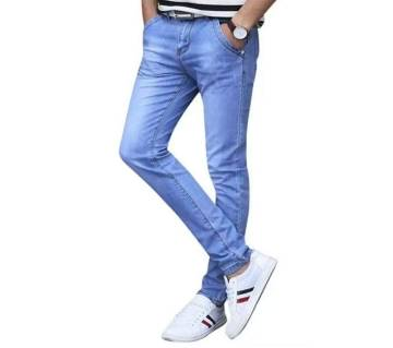 stretched light blue jeans pants for mens