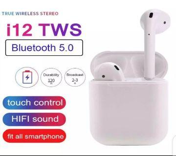 TOHAYIE Mini i12 Tws Headset Bluetooth 5.0 HIFI Sound Noise Cancelling Earphone white color