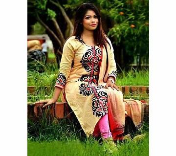 Unstitched Cotton Salwar kameez for women - 3Pcs - 035 - MHG