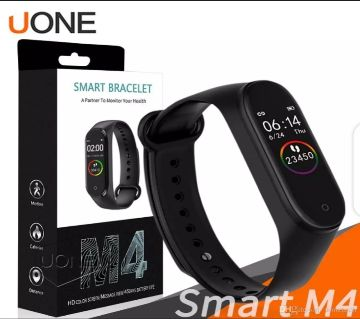 M4 Smart band 4 Fitness Tracker Watch Sport bracelet Heart Rate Blood Pressure Smartband Monitor Health Wristbands for Mi band 4- black