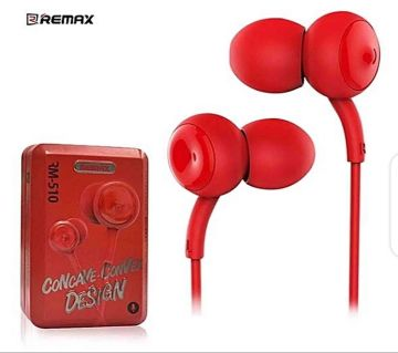 Remax RM-510 Earphone Red colors