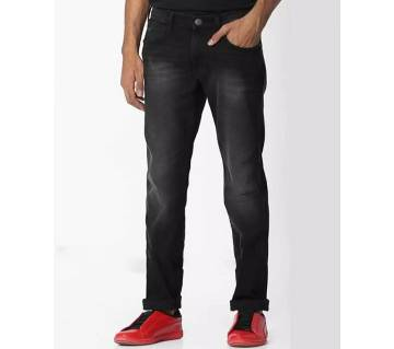 Stretched black jeans pants for mens