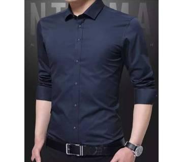Nevy blue long sleeve shirt for mens