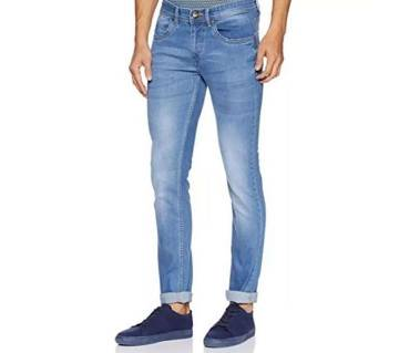 Light blue denim jeans pants for mens