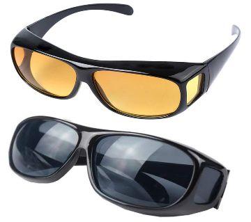 2 In 1 Anti-Glare Sunglasses Night Vision And HD Polarized