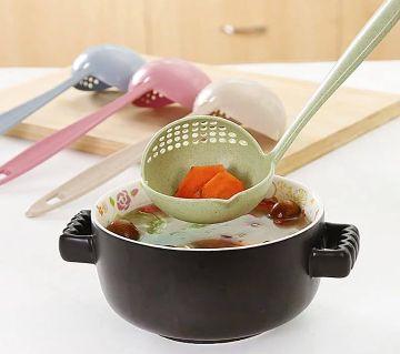 Long Handle Soup Spoon-1Pcs  - Random Color