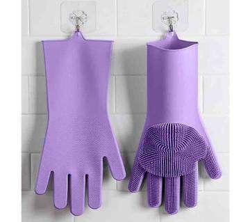 Original Silicon Kitchen Hand Gloves - Purple