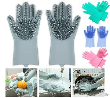 High Quality Silicone Dish Washing Kitchen Hand Gloves