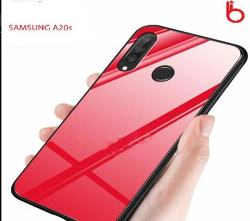 Hong Kong Glass Case Phone Back CoverFor Samsung Galaxy A20s - Red
