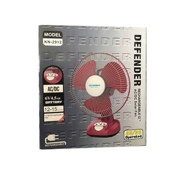 Defender/Kennede 2912 Rechargeable Fan 12 inch-Red