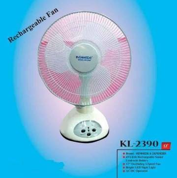 Kennede 2390 Rechargeable Fan 12 inch Portable