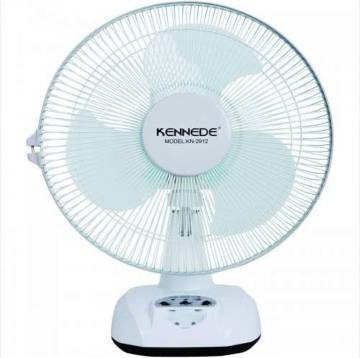 "KENNEDE BRAND 12"" OSCILLATING 2-SPEED RECHARGEABLE FAN + LED LIGHT KN-2912"