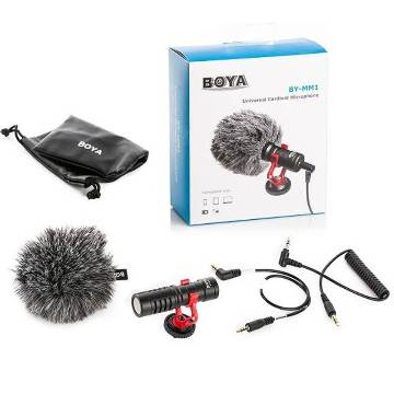 BOYA BY-MM1 Compact On-Camera Video Microphone-Black