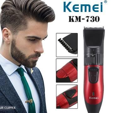 Kemei km 730 Professional Hair Clipper & Trimmer-Black & Red