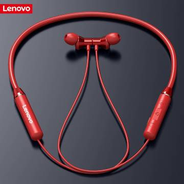 Lenovo HE05 Bluetooth Headphones Wireless Headsets Sport - Black & Red