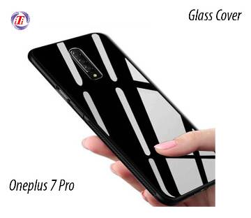 OnePlus 7 pro Tempered Glass Protector Casing Back Cover-Black & White