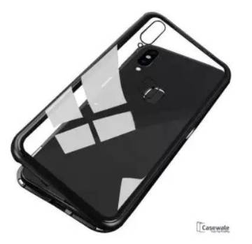 For Samsung Galaxy A20 marvel cases glass Back Cover-Black
