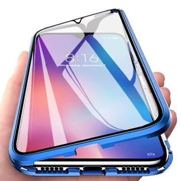 Xiaomi mi A3 Magnetic Metal Frame Glass case-Blue