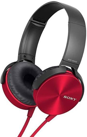 Sony Extra Bass XB450AP Headphones-Red