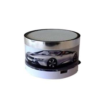 S-10 Round Wireless Mini Bluetooth Speaker-Silver