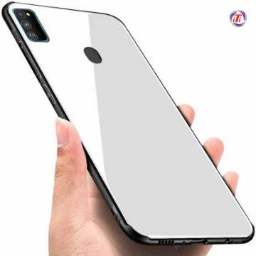Samsung Galaxy M30s Tempered Glass Protector Casing Glass Back Phone Cover-White