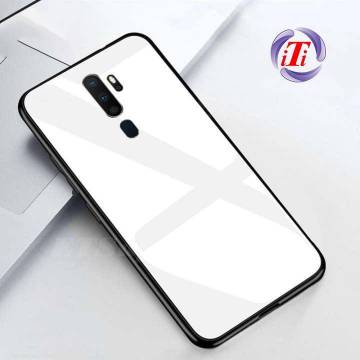 OPPO A9 2020 Tempered Glass Protector Casing Glass Back Phone Cover-White