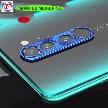 Protective Metal Camera Lens Ring for Xiaomi Redmi Note 8-Blue