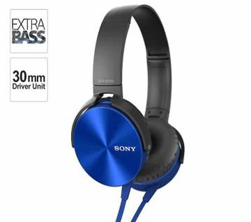 Sony Overyear XB450 wired headphone -Blue -Copy