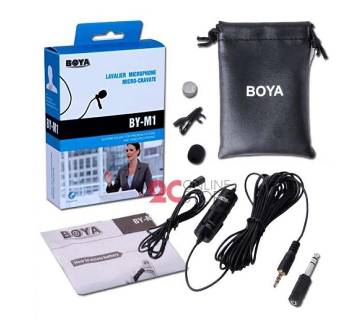 Boya M1 Professional Microphone For Mobile & DSLR - Black
