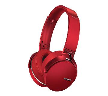 SONY MDR -XB950BT Over-the-Ear Extra Bass Wireless Blueooth With Sd Card Supported- Red