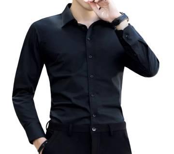 Full Sleeve Black Colour Shirt for man