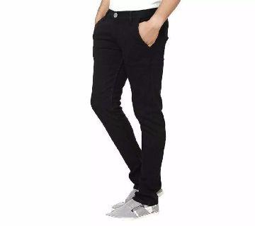Black Colour Gebardine Pant For Man..