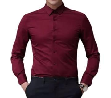 Full Sleeve Maroon Colour mens shirt
