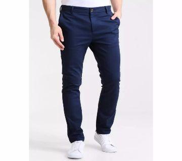 Navy Blue Gabardine Pant for Man