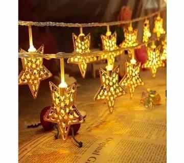 LED GOLDEN COLOUR STAR LIGHT-10 PIECE-12 FEET