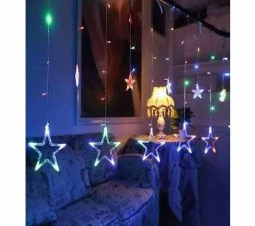 LED STAR MULTI COLOUR-12 PIECE-15 FEET
