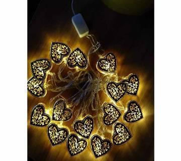 LED GOLDEN COLOUR LOVE SHAPE-16 PIECE-12 FEET