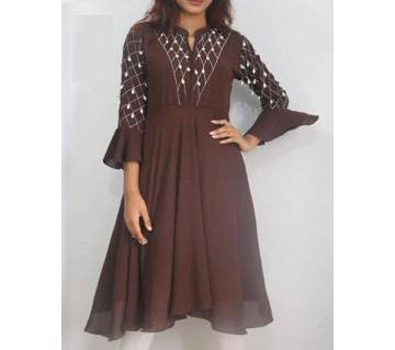 Stitched 1pc For Women-coffee