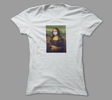 Monalisa White Polyester T-Shirt