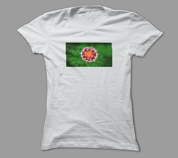 Corona Virus White Polyester T-Shirt