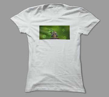 Corona White Polyester T-Shirt